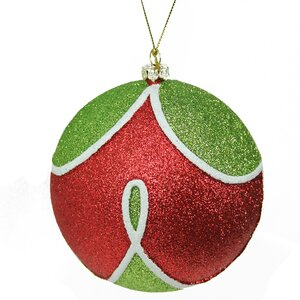 Merry and Bright Glitter Shatterproof Christmas Ball Ornament