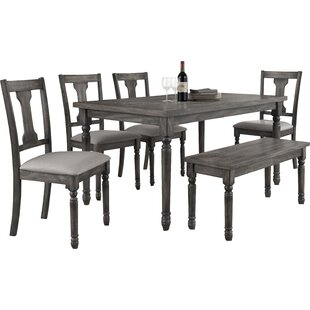 Durkee 6 Piece Dining Set  sc 1 st  Joss \u0026 Main : black kitchen table and chairs set - pezcame.com