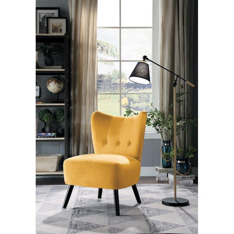 George Oliver Holeman Velvet Slipper Chair Amp Reviews Wayfair