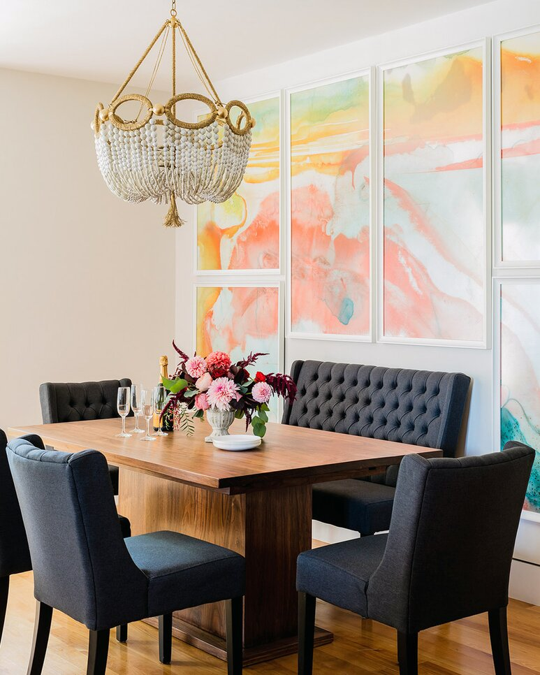 Colorful Dining Room Chandelier