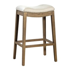 Linen Backless Bar Stool by Furniture Cla..