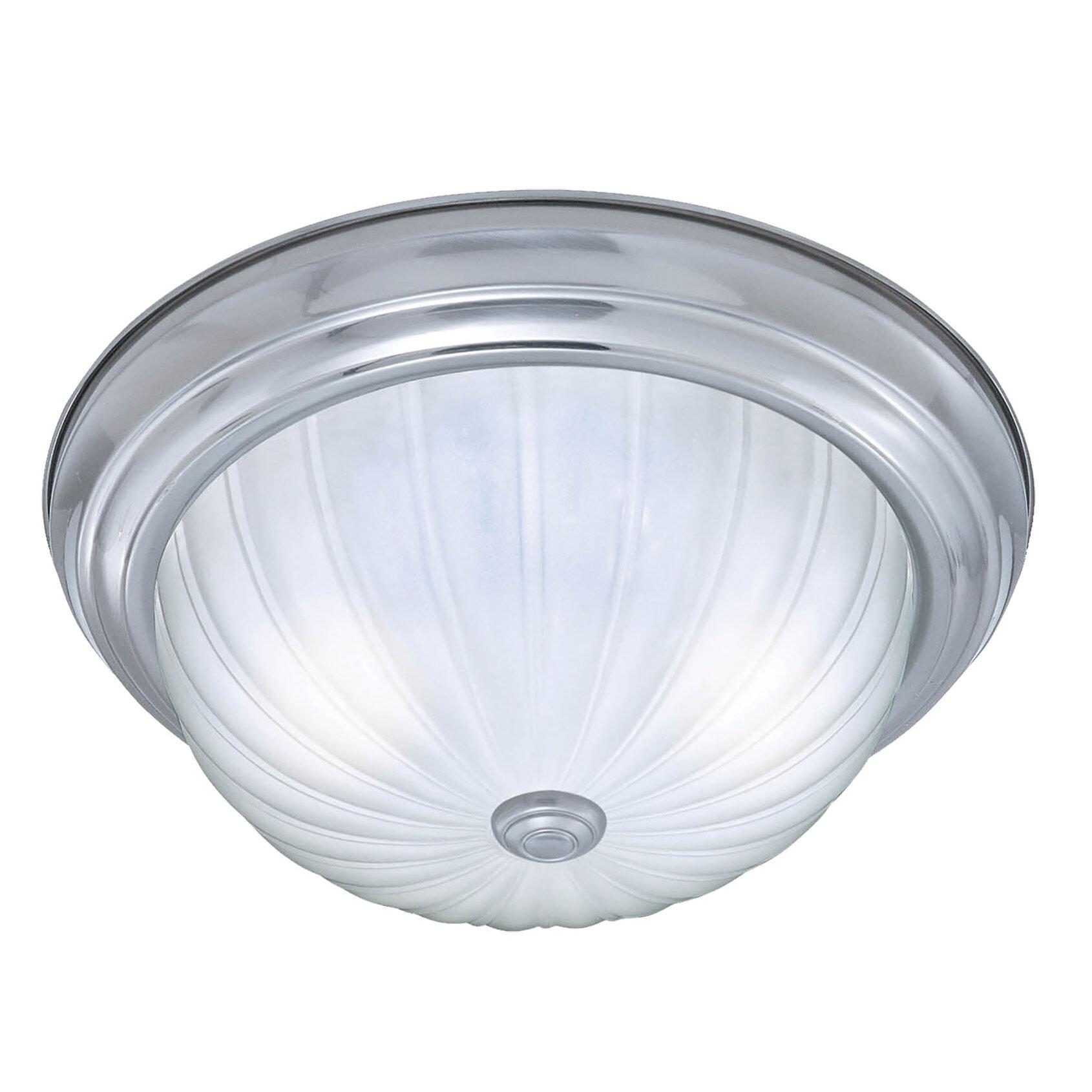 Thomas Lighting Ceiling Essentials 2-Light Flush Mount & Reviews ...