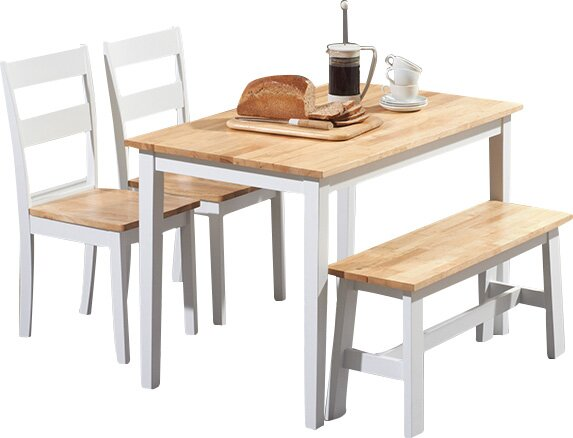 Superb Beecher Falls Dining Set With 2 Chairs And One Bench Interior Design Ideas Gentotryabchikinfo