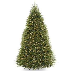 fir 9 hinged tree with 900 clear lights - Modern Christmas Trees