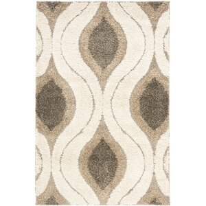 Fulton Cream/Smoke Gray Shag Area Rug