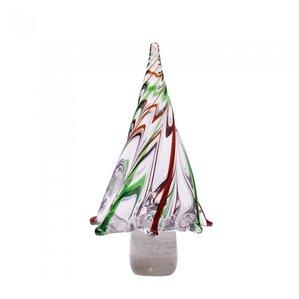 stripes glass tabletop tree - Glass Christmas Tree