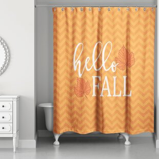orange chevron shower curtain. Hello Fall Chevron Shower Curtain Gorgeous  Wayfair