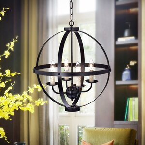 Kandace 4-Light Globe Pendant
