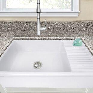 Kitchen sink with drainboard wayfair cape 36 x 20 farmhouseapron sink with built in drainboard workwithnaturefo