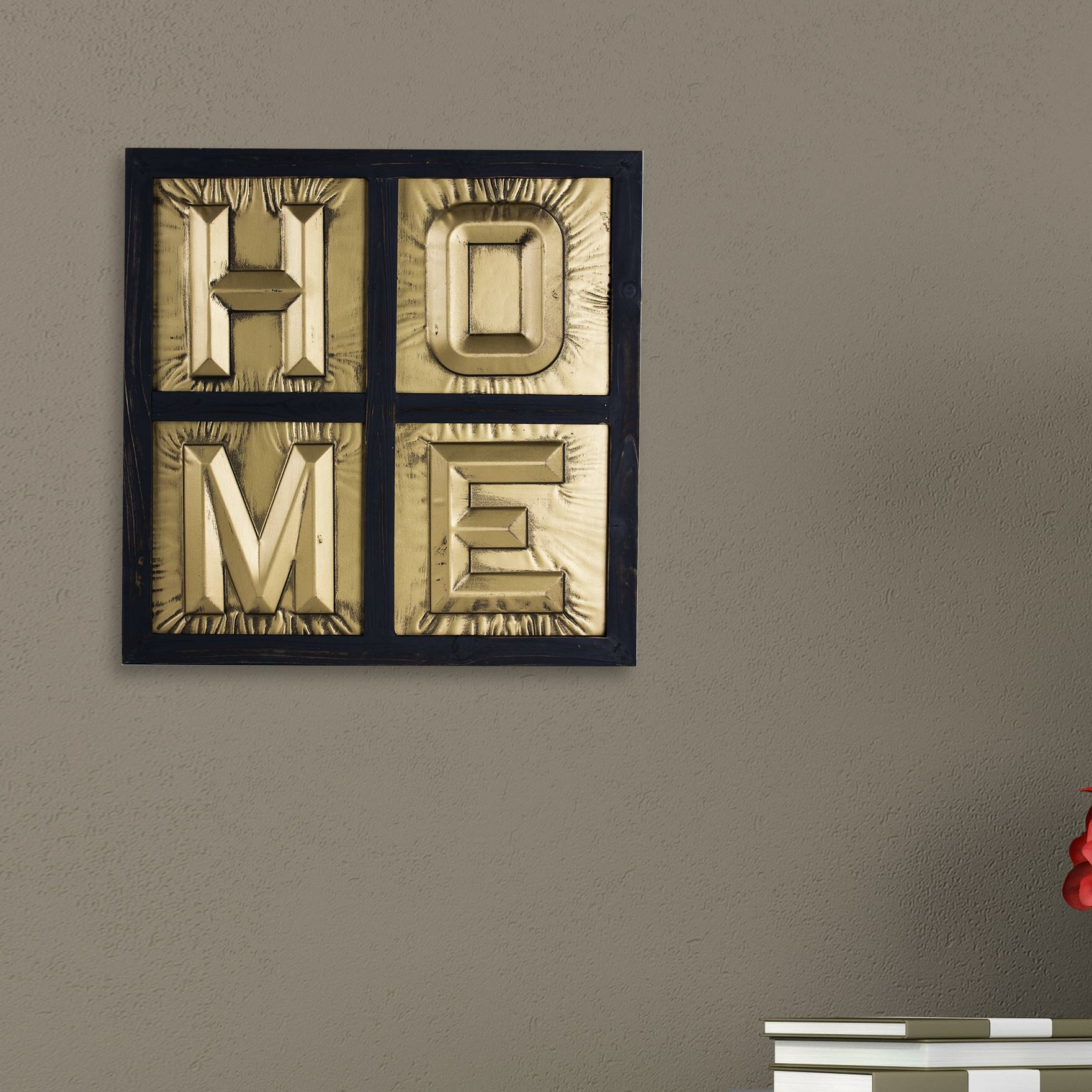Metal Block Letters For Wall Wrought Studio Home Sign 3D Metal Block Letters Framed Wall Décor
