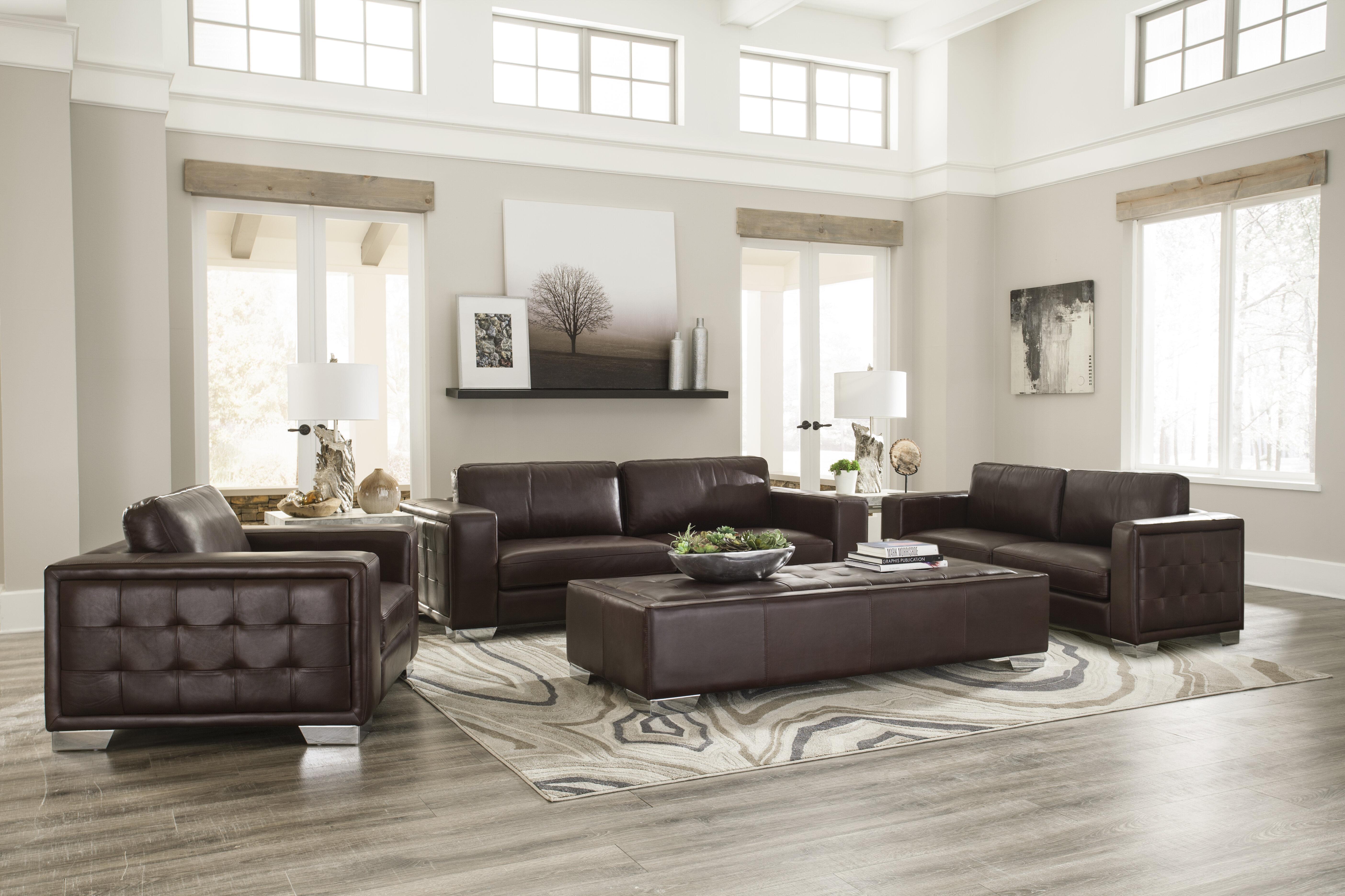 Kuhn Leather Configurable Living Room Set