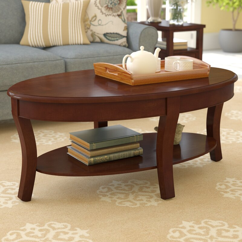 Parker Oval Marble Coffee Table Reviews: Charlton Home Swarthmore Coffee Table & Reviews
