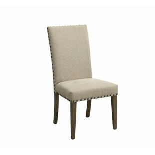 Voorhies Transitional Wooden Upholstered Dining Chair (Set of 2)