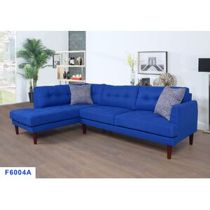 Sectional  sc 1 st  Wayfair : blue leather sectional sofa - Sectionals, Sofas & Couches