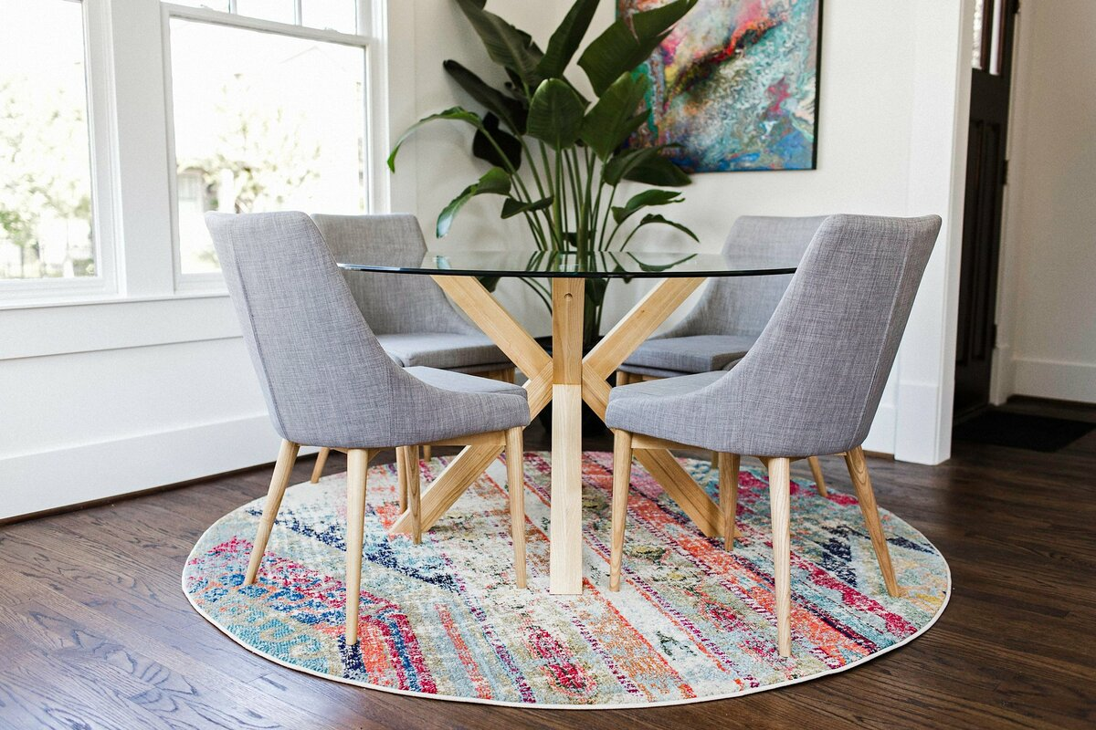 Great Kaylin Contemporary 5 Piece Breakfast Nook Dining Set