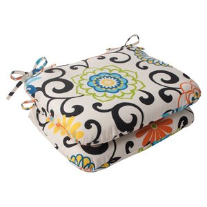 Pom Pom Outdoor Seat Cushion (Set of 2)