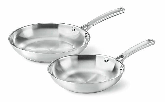 Calphalon Stainless Steel 2 Piece Frying Pan Set   Reviews  21bb2b251812