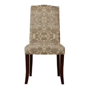 Lasseter Beige/Brown Parsons Chair (Set of 2) (Set of 2) by Red Barrel Studio