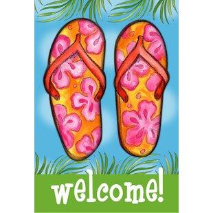 ee165876fc59 Welcome Flip Flops Garden Flag