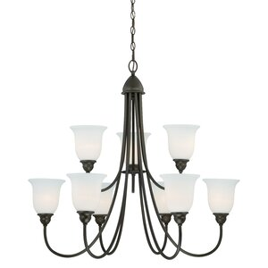 Concord 9-Light Shaded Chandelier