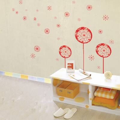 walplus transparent dandelion wall decal & reviews | wayfair