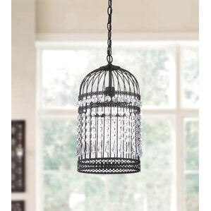 Annemarie Bird Cage 1-Light Foyer Pendant & Bird Cage Pendant Light | Wayfair azcodes.com