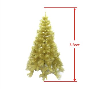indoor gold pine artificial christmas tree