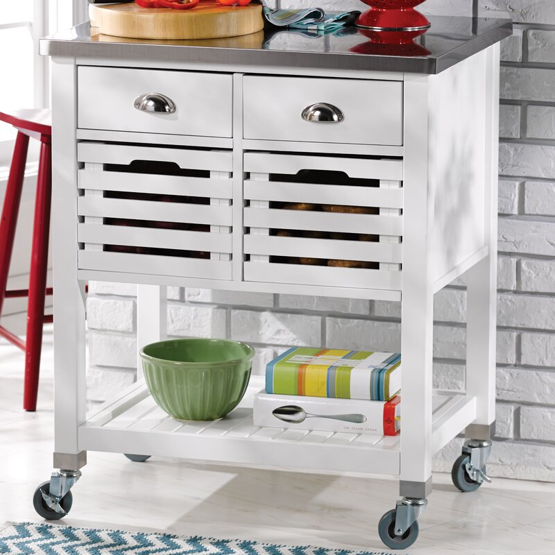 Charmant Fulton Kitchen Cart With Stainless Steel Top