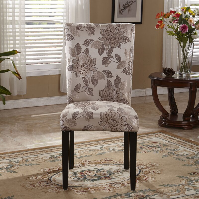 Bellasario Collection Elegant Floral Parsons Upholstered