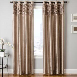 bedroom drapes. Heger Solid Grommet Single Curtain Panel Mens Bedroom Curtains  Wayfair