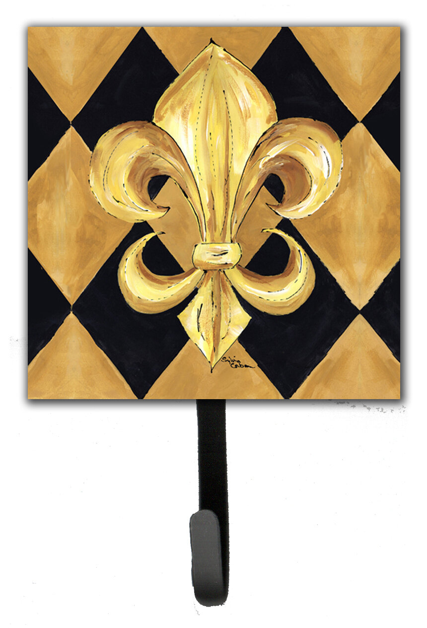 Caroline\'s Treasures Fleur De Lis New Orleans Wall Hook | Wayfair