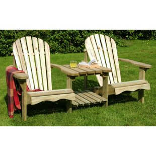 Pauls Valley Wooden Love Seat by Alpen Home