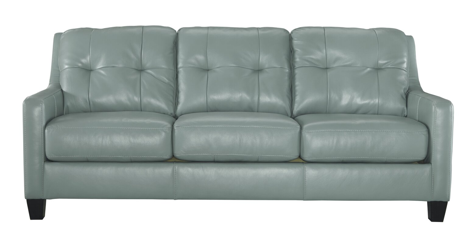 Faux Leather Sofas Youll Love Wayfair - Brushed leather sofa 2