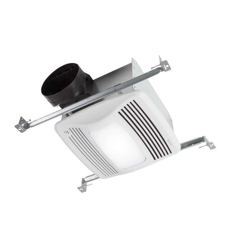 Ultra Silent 110 CFM Humidity Sensing Bathroom Fan with Light