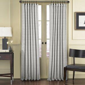 Abhi Solid Room Darkening Tab Top Single Curtain Panel