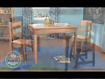 KidKraft Kids 3 Piece Wood Table & Chair Set & Reviews   Wayfair