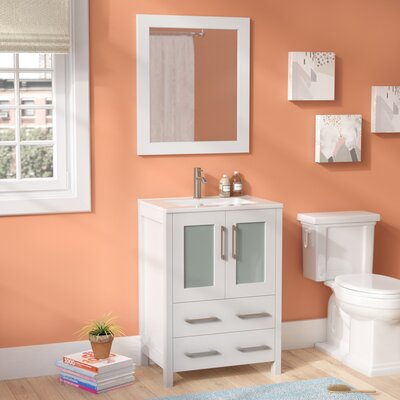 Lezlie 24 Single Bathroom Vanity Set With Mirror