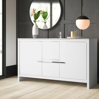 . Bosley 59  Single Modern Bathroom Vanity Set