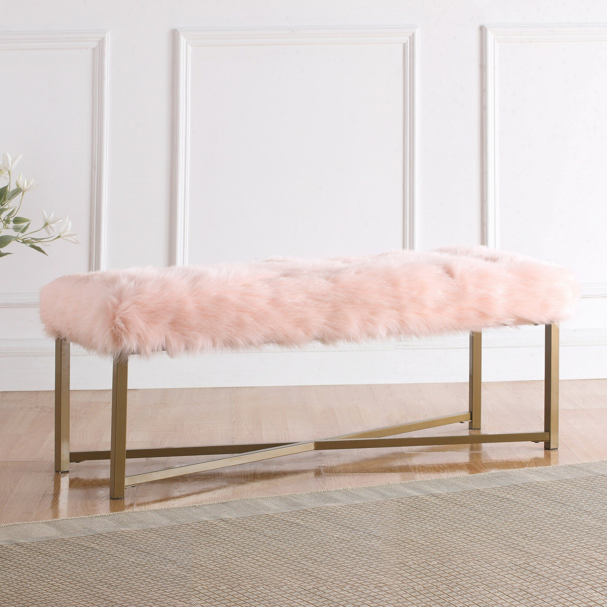 Willa Arlo Interiors Farley Fabric Bench & Reviews | Wayfair