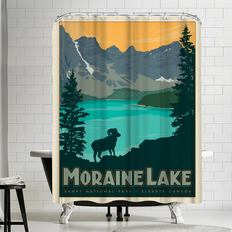 Anderson Design Group Canada Moraine Lake Shower Curtain