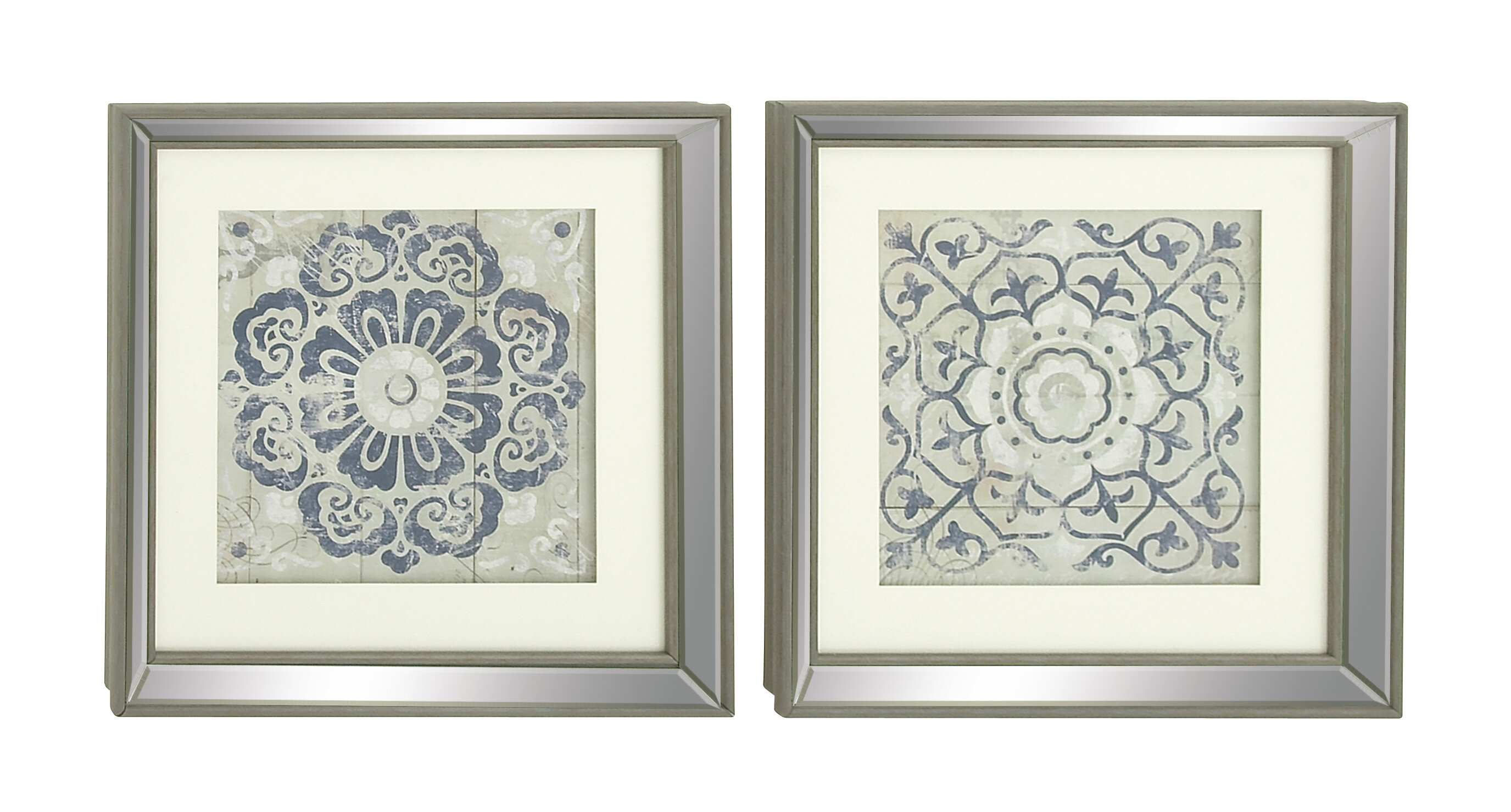 Mistana Polystone Mirror Framed Wall Art Set & Reviews | Wayfair