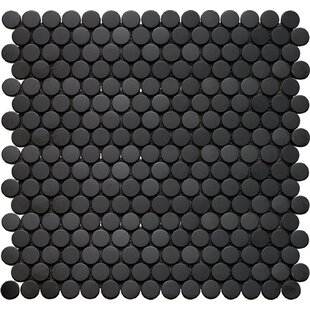 Glass Penny Round Tile Youll Love Wayfair - Cheap penny round tile