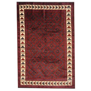 Balouchi Red/Ivory Area Rug