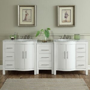 Northampton 72 Double Bathroom Vanity Set silkroad exclusive | wayfair