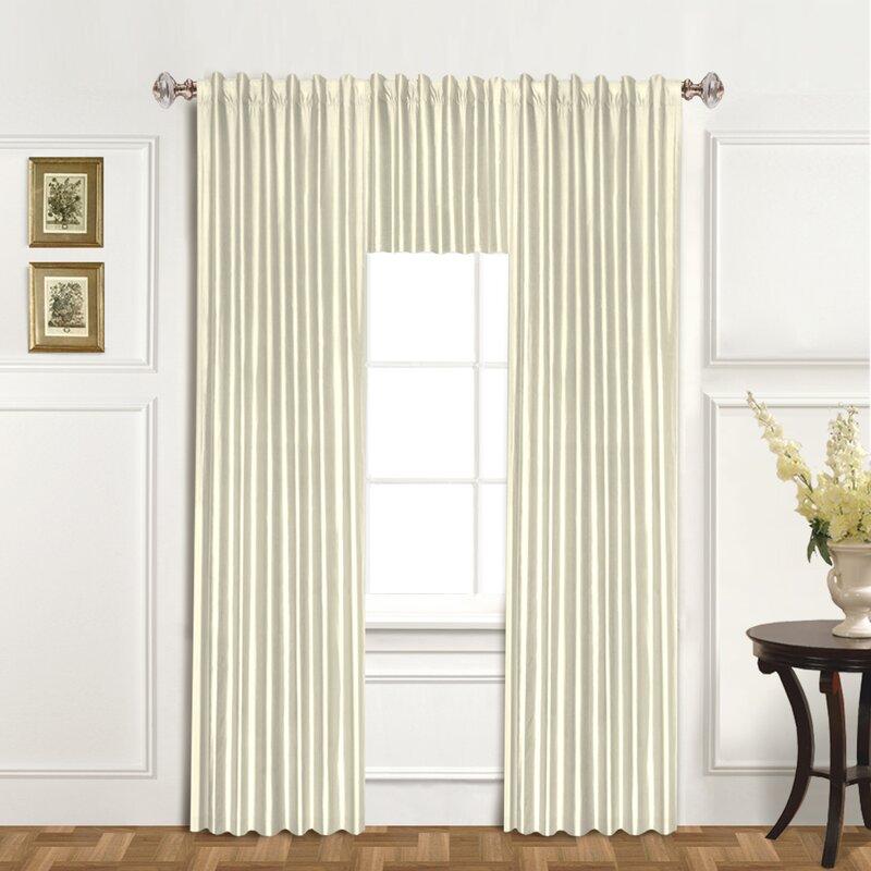 Dupioni Silk Single Curtain Panel