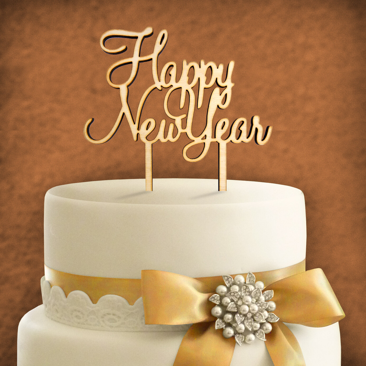 amonogramartunlimited happy new year wooden cake topper wayfair