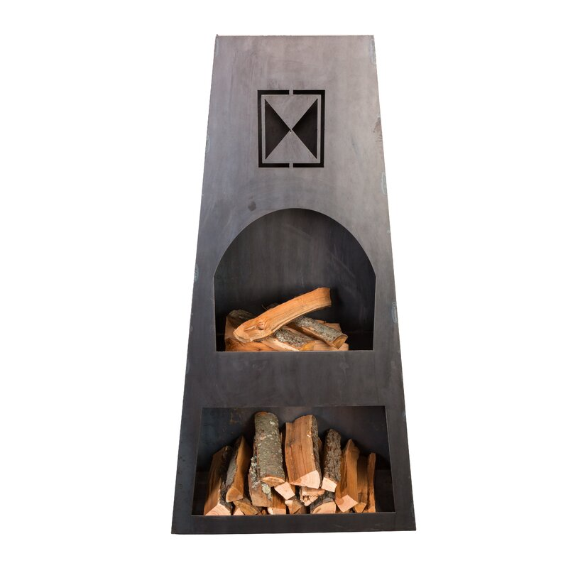 Ember Haus Fire Knight Steel Wood Burning Outdoor ... on Quillen Steel Outdoor Fireplace id=64679