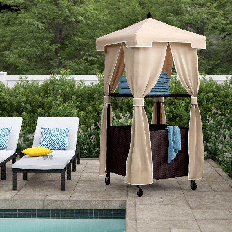 Modern Pool Towel Rack