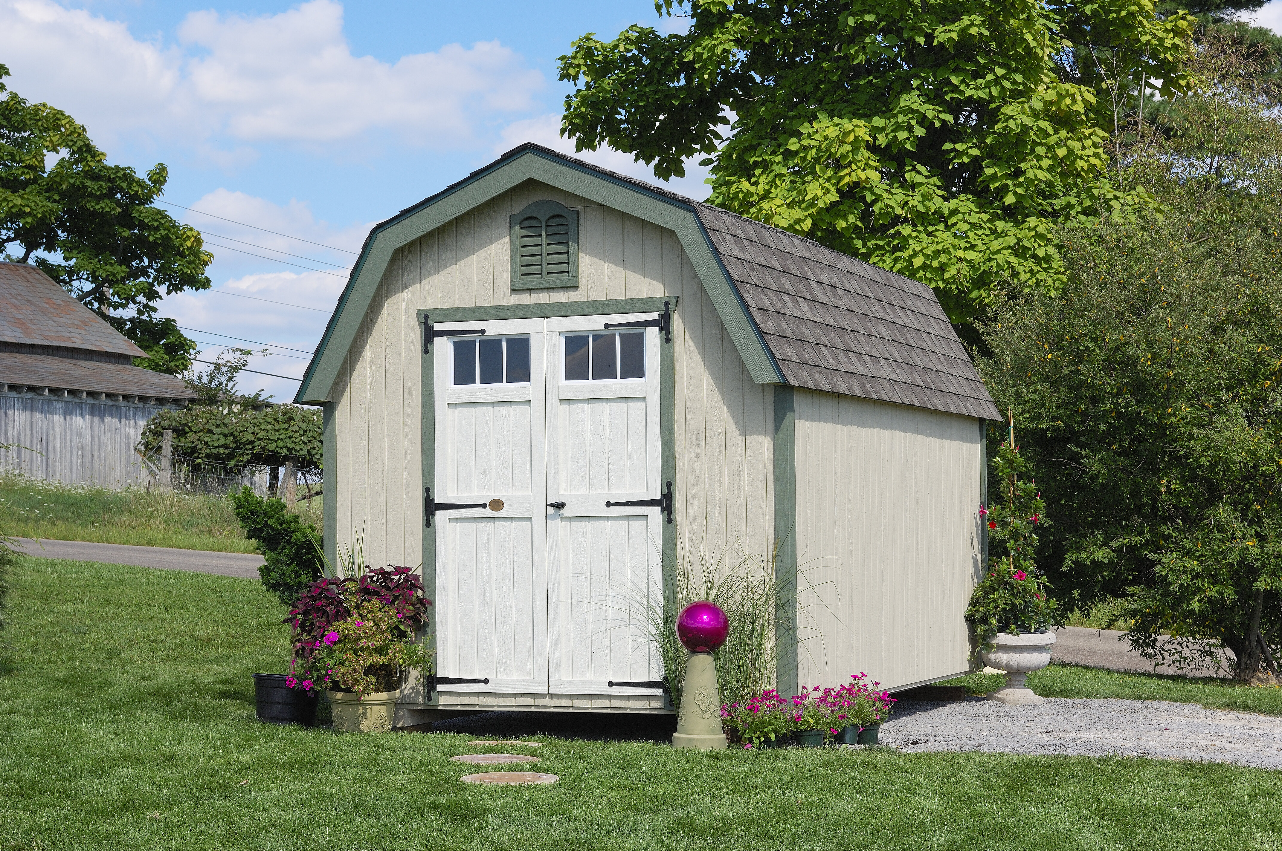 Colonial Greenfield Wooden Storage Shed