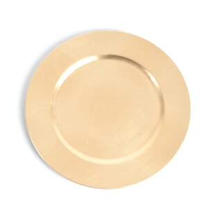 Gold Plastic Charger Plates  sc 1 st  Wayfair & Gold Plastic Charger Plates Youu0027ll Love | Wayfair
